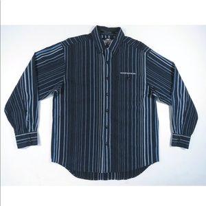 Vintage Harley Davidson Striped Long Sleeve Shirt